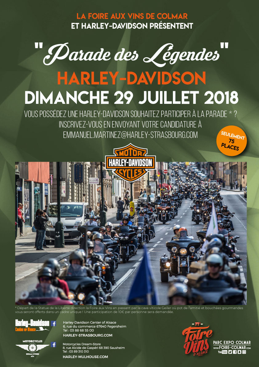 parade des l gendes harley davidson tripnbike. Black Bedroom Furniture Sets. Home Design Ideas