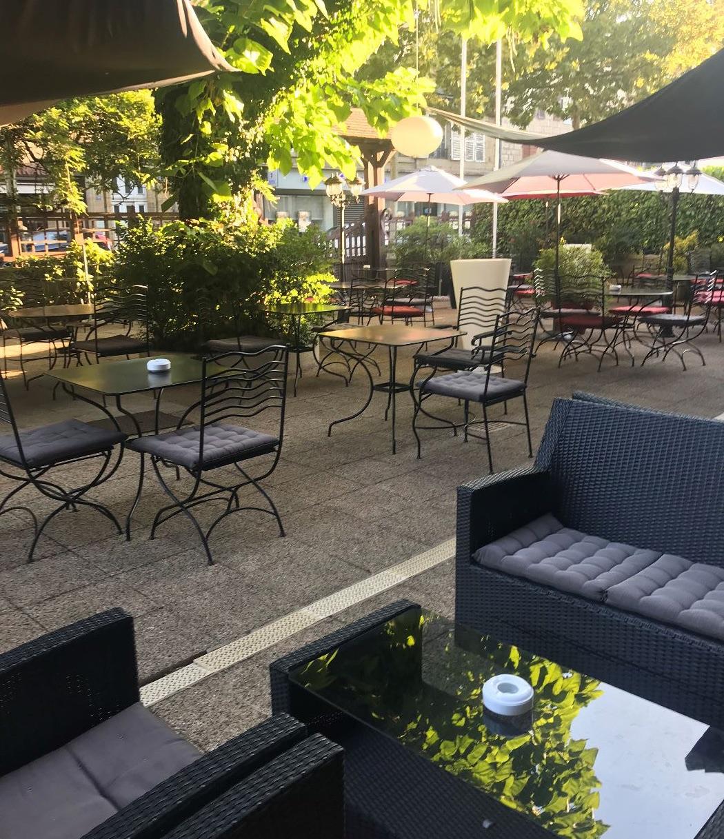 Terrasse Ombragée Les Plantes à Choisir: LA TRUFFE NOIRE Hotel***, Restaurant