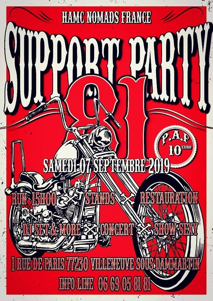 Support Party -HAMC Nomads France | TripnBike
